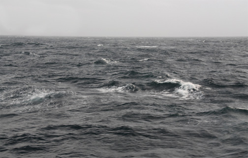The Tasman Sea well within the Roaring Forties.