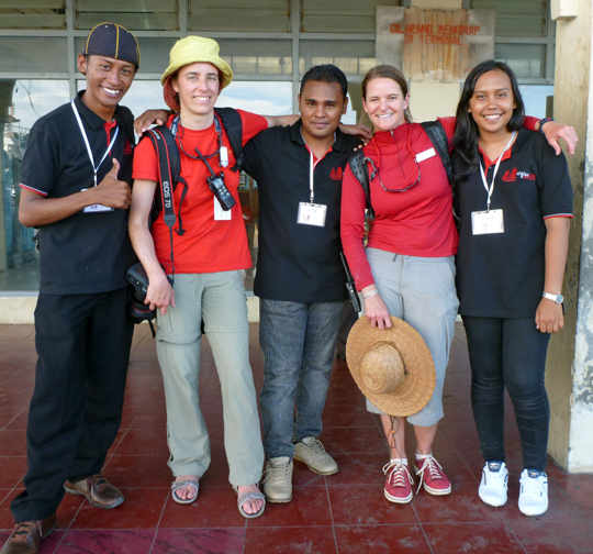 A group shot with our student guides in Ternate in the Halmahera region of the Spice Islands, Indonesia.  Their English was excellent.  The young woman on the right had studied English in Nova Scotia and spoke with a Canadian accent.  Pretty cool.