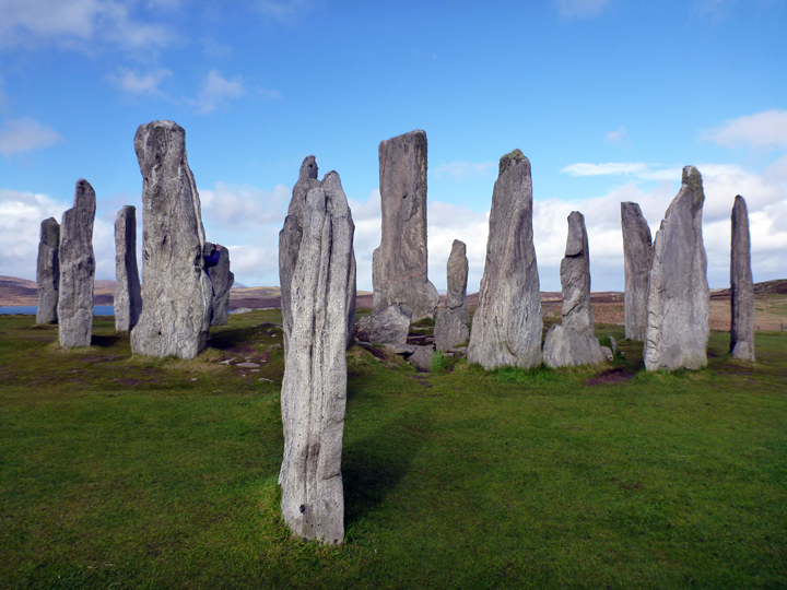 2000-year old standing stones in Callanish.