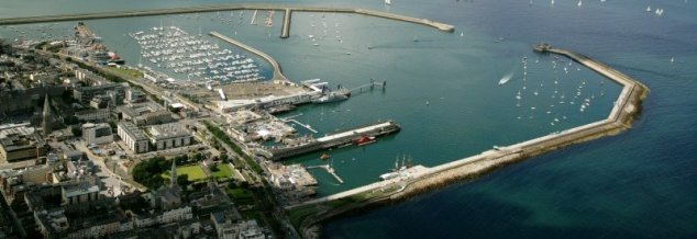 Dun Laoghaire Harbour.  I neglected to snap a photo, so borrowed this aerial from the web.