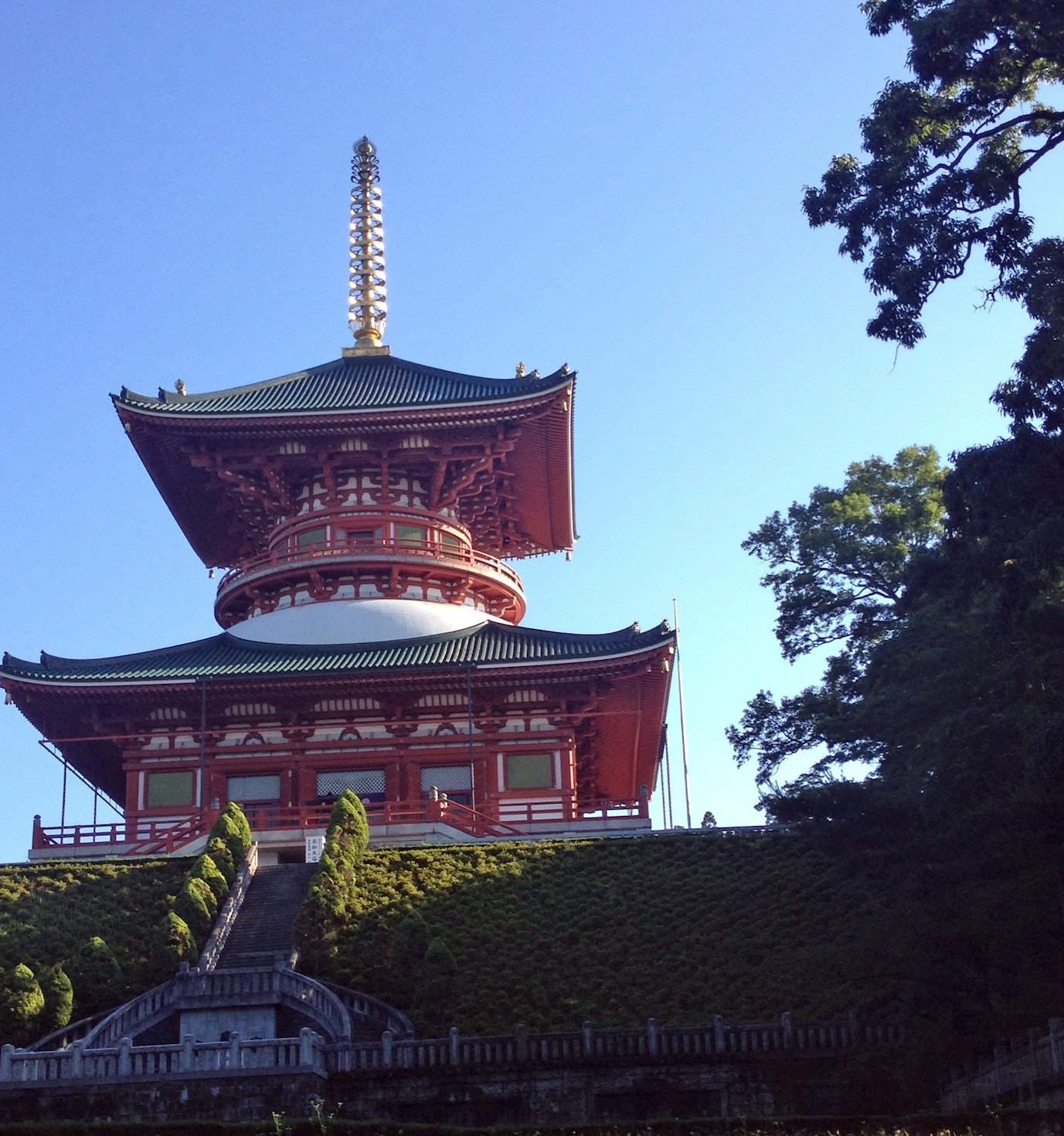 The Naritasan Temple at dawn.