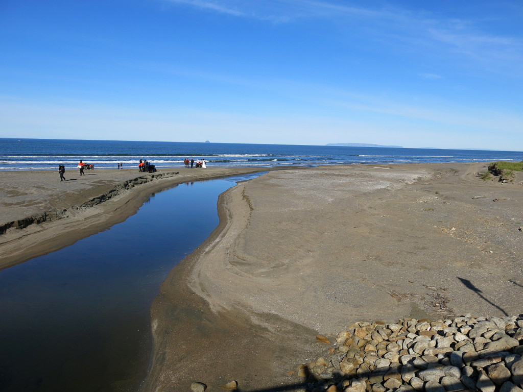 The main landing beach for the community of Wales, Alaska.  Population ~145