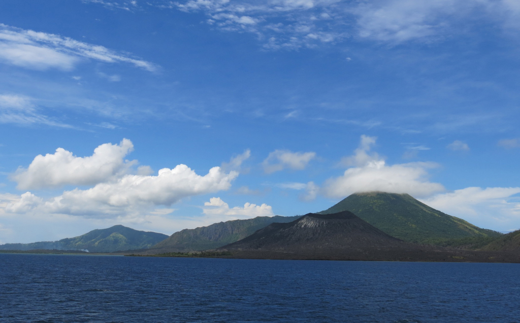 This volcano outside of Rabaul erupted not long ago, making headlines around the world.
