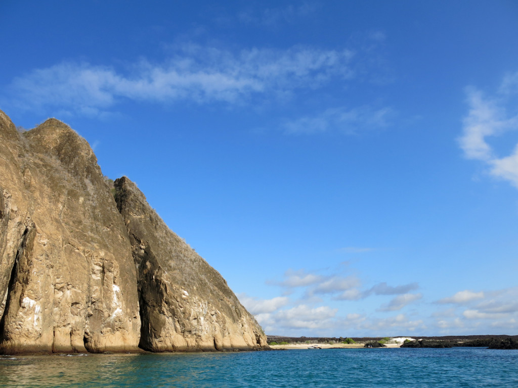 San Cristobal Island in the sun heading to one of my favorite beaches anywhere.