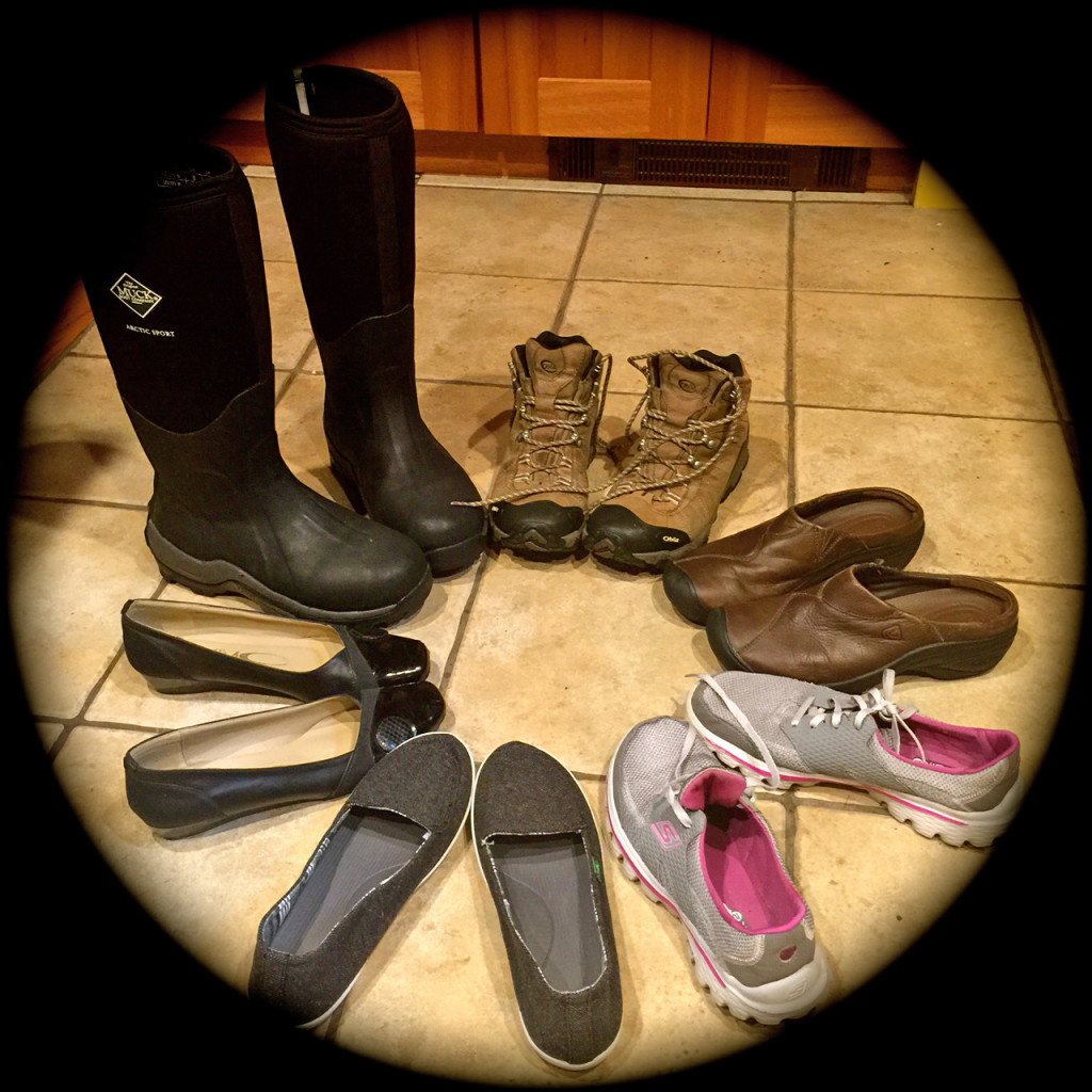 How do you get from Muck Boots to party shoes?