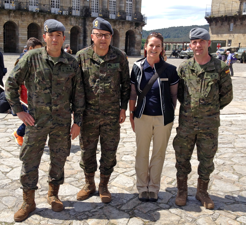 I'm collecting shots of me with men and women in uniforms from around the world.  This one in Spain was a coup.